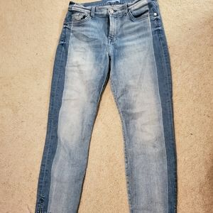 Cropped Jean's with darker side panels